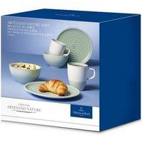 Villeroy & Boch Breakfast set 6 pieces Artesano Nature Vert green
