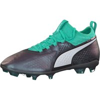 Puma Mens ONE 2 IL LTH FG Footbal Shoes, Purple Color Shift-Biscay Green White Black 8 UK