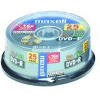 Maxell DVD-R 4,7GB 120min 16x 25pk Spindle
