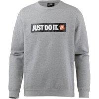 Nike Sportswear Fleece Crew Sweatshirt grey heather/white
