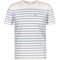 Levi's Sunset Pocket Tee supima marshmallow/allure anchor stripe (298130-041)