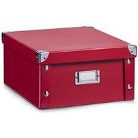 Zeller Storage Box Cardboard Red (14 x 26 x 31 cm)