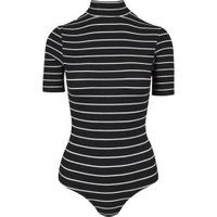 Urban Classics Ladies Striped Turtleneck Body black/white (TB1706)