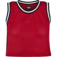 Urban Classics Ladies Cropped Mesh Top red/blk/wht (TB1901-521)