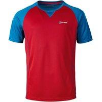 Berghaus Men's Short Sleeve Crew 2.0 T-Shirt haute red/snorkel blue