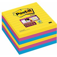 Post-it Super Sticky Notes Rio 101 x 101 mm Lined (6 Pack)