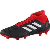 adidas Mens Predator 18.3 Fg Footbal Shoes, Black CblackFtwwhtRed, 11 UK