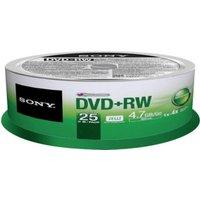 Sony DVD+RW 4,7GB 120min 4x 25pk Spindle
