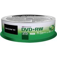 Sony DVD+RW 4,7GB 120min 4x 25pk Spindle