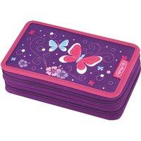 Herlitz Pencil Case Double 23 Pieces Purple Butterfly