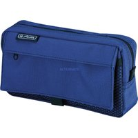 Herlitz Pencil Pouch with 2 Pockets blue