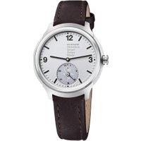 Mondaine Helvetica 1 Smartwatch silver Leather brown