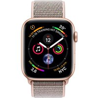 Apple Watch Serie 4 44mm GPS gold Aluminum Pink Sand Sport Loop Smartwatch