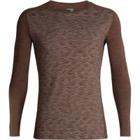 Icebreaker 200 Oasis Deluxe Raglan Long Sleeve Crewe Fall Line Men bronze heather