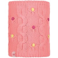 Buff Knitted & Polar Fleece Neckwarmer Dysha flamingo pink