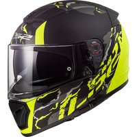 LS2 FF390 Breaker  Feline matt black/H-V yellow