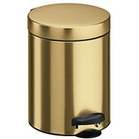 Meliconi Pedal bin with plastic inner pail - gold