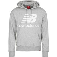 New Balance Essentials Stacked Logo Po Hoodie athletic grey (MT91547AG)