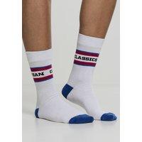 Urban Classics Logo Stripe Sport Socks 2-Pack white/red/blue (TB2156)