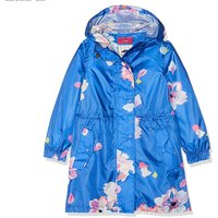 Joules Golightly Girl's Rain Jacket Mid Blue Floral
