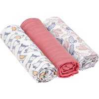 Lassig Heavenly Soft Swaddle L Glama Lama Coral