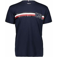 CMP Heritage T-Shirt with Logo (39D8067) black blue