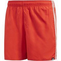 adidas Men's 3 Stripe Swim VSL Shorts - Hi Res Red - XL - Red