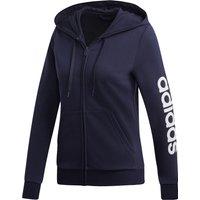 Adidas Women Essentials Linear Full Zip Hoodie legend ink/white