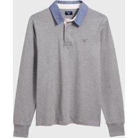 GANT Rugbyshirt grey melange (2005030-93)