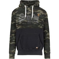 Superdry Sweatshirt Vintage Logo Panel Camo Hood dark green (M2000073B)