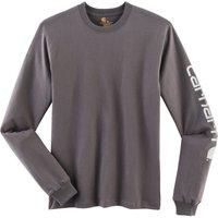 Carhartt Signature Sleeve Logo Long-Sleeve T-Shirt charcoal