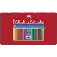 Faber-Castell Colour Grip 2001 Coloured Pencils - Tin of 36