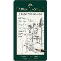 Faber-Castell Bleistift Castell 9000 12er Design Set (119064)