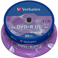 Verbatim DVD+R DL 8,5GB 8x printable 25pk Spindle