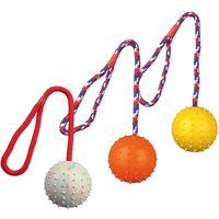 Trixie Natural Rubber Ball with Rope 7 cm