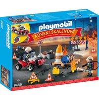 PLAYMOBIL® 9486 Adventskalender Feuerwehreinsatz auf der Baustelle