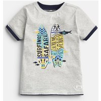 LIGHT GREY 204640 Premium Screenprint Tee  Size 7yr-8yr