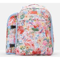 WHITE FLORAL Picnic rucksack Printed and Fully Insulated for Four People  Size One Size