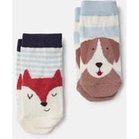 Multi Dog Fox Neat Feet Pack Of Two Character Socks  Size 0M-6M