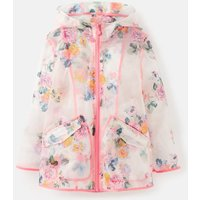 Clear Floral Raindance Clear Waterproof Rubber Coat 3-12 Years  Size 9Yr-10Yr