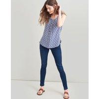 NAVY GEO Alyse Sleeveless woven top  Size 12