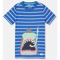 SHARK GREY 204639 Screenprint Tee  Size 9yr-10yr