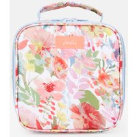 WHITE FLORAL Picnic lunch bag Printed and Fully Insulated  Size One Size