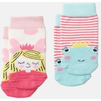 Pink Frog Fairy Neat Feet Two Pack Character Socks  Size 6M-12M