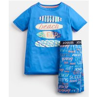 Blue Text Rowley Short Pyjama Set 1-12 Yr  Size 4Yr