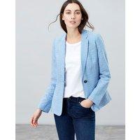 Blue Leonie Linen Blazer  Size 10