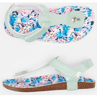 WHITE MERMAID FLORAL Sundale Toe Post Sandal  Size Childrens Size 2