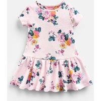 Pink Marl Skelwith Katy Jersey Printed Dress  Size 3M-6M