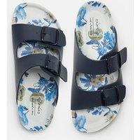 French Navy Penley Printed Slider Sandal  Size Adult 7