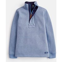 Blue Marl 207595 Half Zip Sweatshirt 3-12 Years  Size 11Yr-12Yr